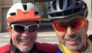 i cicloturisti Paolo Pagne e Enrico Roberto Carrara